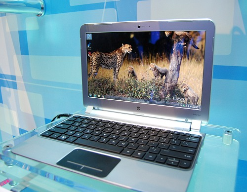 The HP Pavilion DM1Z is perhaps the first fully finished AMD Fusion based notebook. Specs include a 11.6-inch screen, 320GB HDD and runs Windows 7 Home Premium.