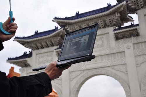 Like a 3G network, the 4G WiMax was able to cover locations like the Chiang Kai Shek Memorial Hall with very acceptable surfing speeds.