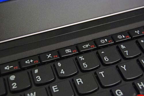 The Function keys have now taken on the role of multimedia functions so there's no need to press the Fn key to access them. However, you will have to press the Fn keys to activate the traditional but lesser used F1-F12 keys.
