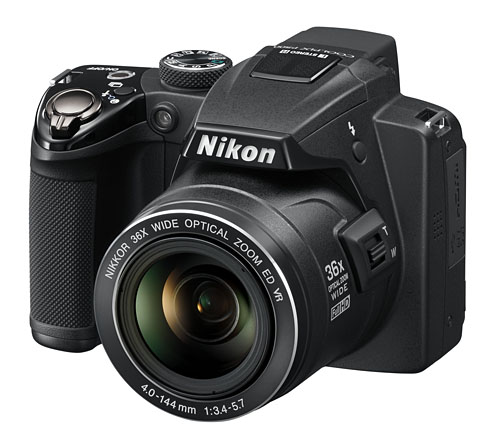 The Nikon COOLPIX P500 with its 36x optical zoom is its strongest selling point.