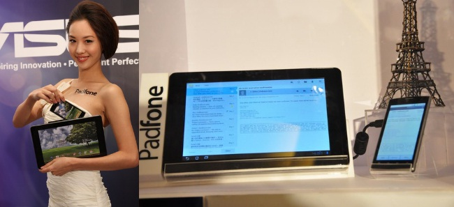 The ASUS Padfone converges the capabilities of a smartphone and a slate device. With the Padfone, the smartphone docks inside the tablet to give users an expanded view of their content.