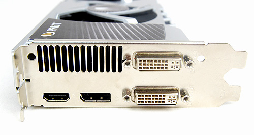 Palit's card is more generous when it comes to video output option seeing that it has twin DVI ports, a DisplayPort and also a full-sized HDMI port.
