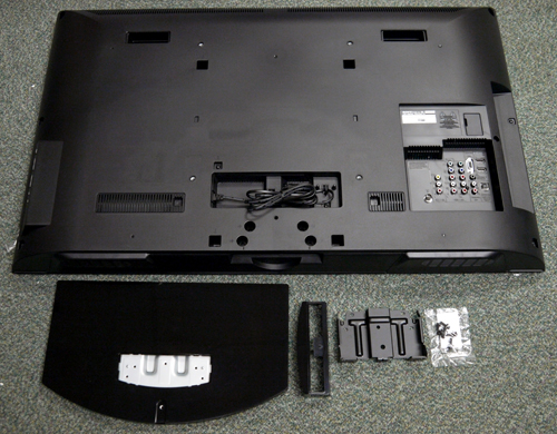 Get your cross-tip screwdriver ready if you wish to attach the panel to its base. Some assembly is required which involves a table-top stand and steel spinal plate. To wall mount the BRAVIA, seek out the optional SU-WL500 or SU-WL50B brackets from Sony.
