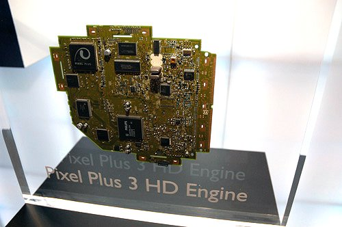 A close-up of the Philips Pixel Plus HD 3 module that powers up the company's range of digital TVs.