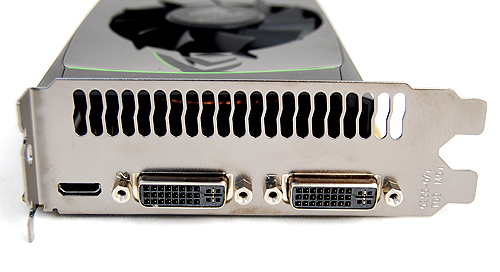The GeForce GTX 460 retains the same twin DVI and single mini-HDMI port for video output.