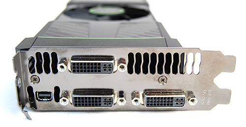 The GeForce GTX 590 is the first Fermi card capable of driving three monitors simultaneously. It can also support 3D Vision Surround by itself.