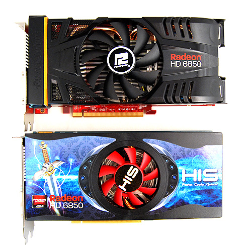 Under the cooler cover of the PowerColor PCS+ HD 6850 are three heat pipes that draw heat away from the GPU core.