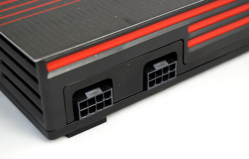 The Radeon HD 6990 draws its power from two 8-pin PCIe power connectors and AMD recommends a PSU rated for at least 750W. For CrossFireX configurations, AMD recommends a PSU rated for at least 1000W.