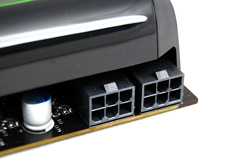 Despite its more lenient power requirements, the GeForce GTX 460 (both 768MB and 1GB) still requires two 6-pin PCIe power connectors.
