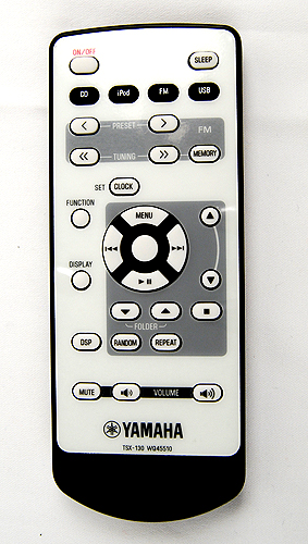 The TSX-130 comes with a handy remote that's easy to use.