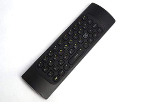 A complete QWERTY keypad is seated on the remote's flip side. Numeric keys can be engaged by holding the ALT key. Although D-Link's intention is laudable, the dual-faced implementation will require some work since we have a tendency of hitting the QWERTY keys when utilizing controls on the other face.