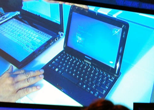 This is Samsung's new mini notebook-cum-slate device.