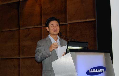 Mr Moon Sung Hyun, Managing Director of Samsung Asia talking about their plans for the Singapore market.
