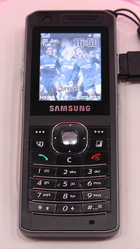 The Samsung Z150 is perhaps the slimmest UMTS phone with video telephony capabilities.