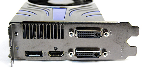 The Sapphire HD 5850 Toxic Edition offers two DVI ports, a single HDMI port and a DisplayPort.