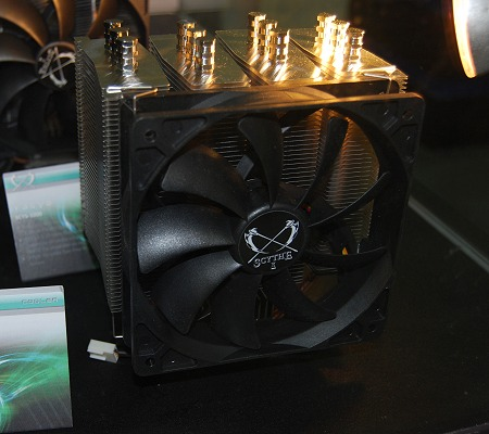 ... PWM fan with what Scythe calls multiple airflow pass-through structure