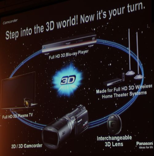 Panasonic's vision for a 3D world is now complete with the introduction of the SDT750 and interchangeable 3D lens, as consumers can soon create their own 3D content -- be it 3D photos or videos -- that they can watch on their 3D-capable HDTVs and 3D Blu-ray Players.