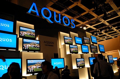 Sharp's main focus at IFA 2006 is the complete AQUOS line-up of its Full HD (1080p) digital TVs, several communication devices, projectors and mobile phones.
