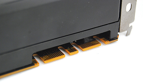 3-way SLI can be enabled via the two SLI connectors.