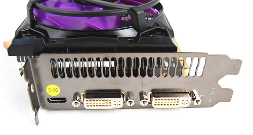 Like the Gigabyte card, the Sparkle card has two DVI ports and a lone mini-HDMI port.