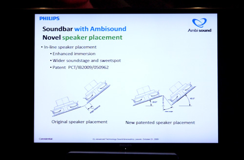 Using a combination of array processing and angled drivers, Philips has come up with a rather novel approach in delivering a wider spatial sound in this all-in-one AV rig. However, Philips would like to reiterate that a Soundbar isn't meant to replace a physical 5.1-channel system, but to create a wider, more open auditory experience.