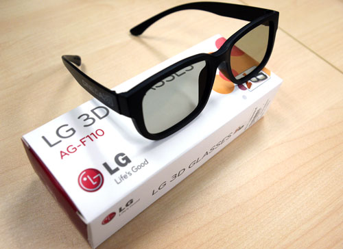 LG's AG-F110 polarized glasses are comfortable and light since they do not sport fancy circuitry like their ASG adversaries. They may be a little too large for a child though. They are going for $20 for two pairs if you'd like to buy more for your family - again it's a lot cheaper than an ASG variety of TVs