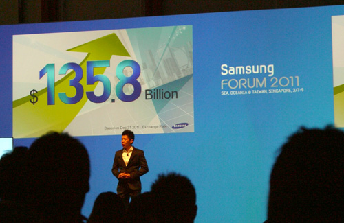 Mr Stanley Goh, Samsung's Regional Director of Trade Marketing, kickstarted the forum with a brief keynote speech. Those huge numbers reflect Samsung's total revenue (USD) chalked up last year. Samsung would also like to develop their market share in their B2B and digital imaging segments.