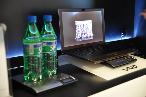 Just in case you're wondering how light the Sony Vaio Z is in terms of soda.