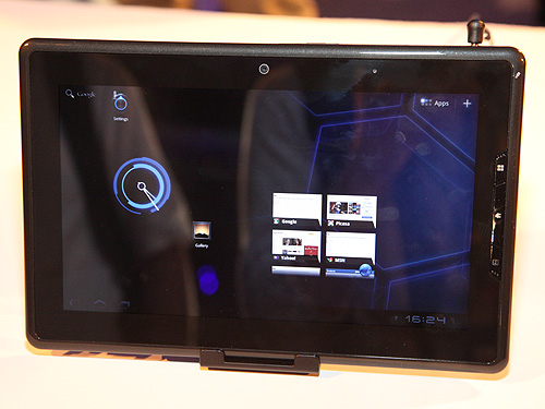Intel's Atom tablet running Android's Honeycomb operating system.