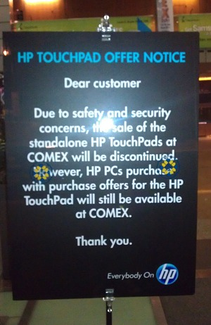 Finally, these signs were put up on the morning of the second day onwards (picture courtesy of Suntec City management).