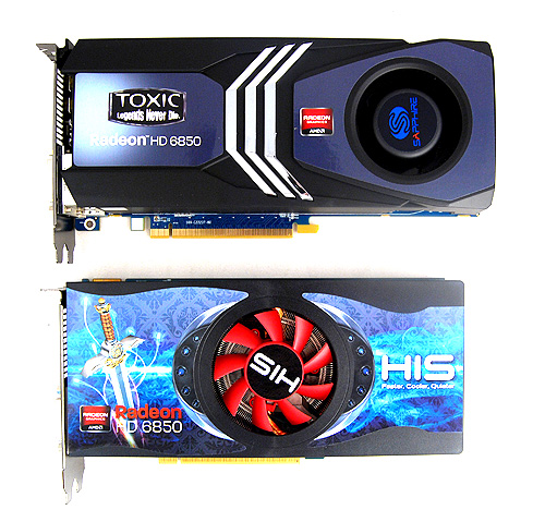 It looks different alright, but the cooler looks like the old reference ones employed by the Radeon HD 4800 series. Also note the length of the card is longer than the reference 6850 card.