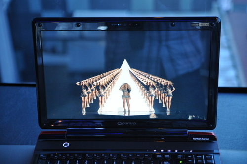 The display quality is very high, and provides for multiple viewing angles (as well as multiple Beyonces easily).