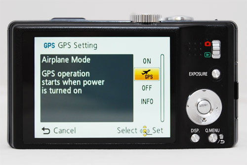You can set the GPS to be always on, it'll produce a faster lock on your position but saps battery. Or you can set the GPS to only turn on when the camera is powered on.