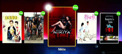 Singtel Video Store houses a mix of Asian and International content including Nikita, the American TV series starring Maggie Q. Most of the TV dramas are offered in SD formats based on what we've found.