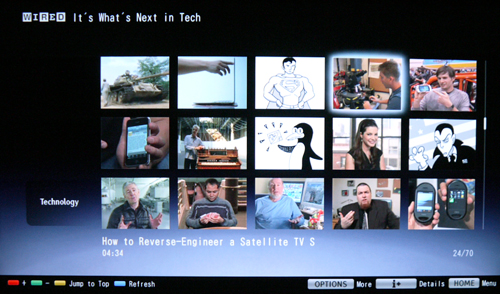 A screenshot captured from WIRED's video page. Titles for the respective videos are shown at the bottom of the screen.
