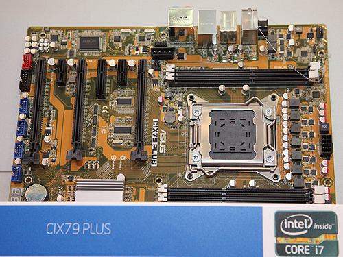 A higher end version of the X79 motherboard from ASUS, with the suffix Plus.