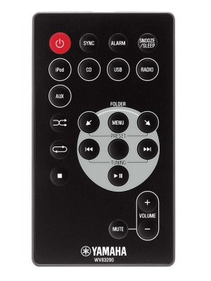 The accompanying remote is fairly straightforward but it's stiff and not finger-friendly.