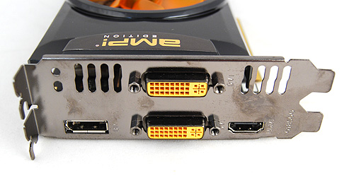 The Zotac card trumphs the other two when it comes to video output connectivity. It has twin DVI ports, a DisplayPort and a full-size HDMI port.