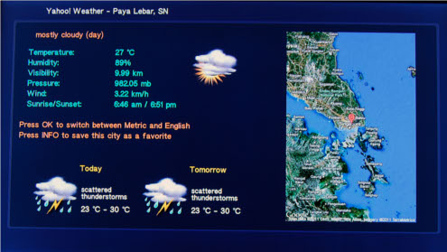 The weather app provides additional information such as wind speed and humidity level.