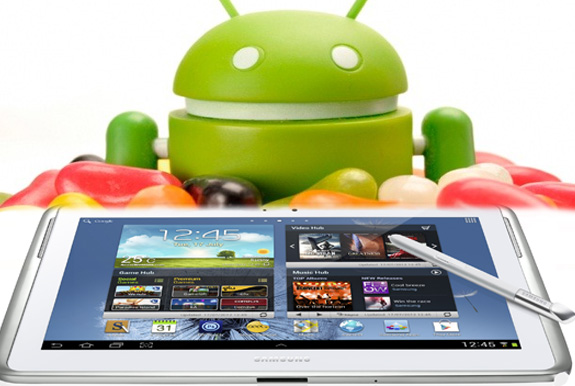 Samsung Galaxy Note 10.1 gets the Android Jelly Bean update. (Source: siliconindia.com)