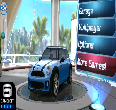 You can adjust the depth of 3D effect in-game through a slider on the side, as seen in Asphalt 6.