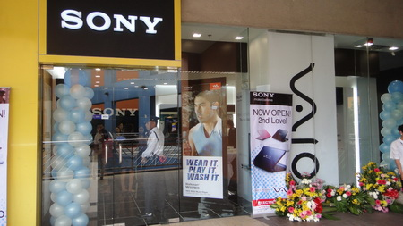 Exterior of the new Sony VAIO shop in MOA.