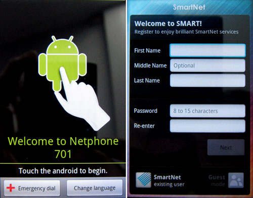 Screencap from our First Looks of the Smart NetPhone.
