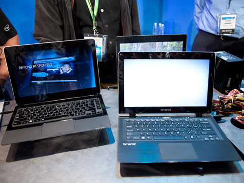 More slim ultrabooks on display - and they are all working Ivy Bridge samples.
