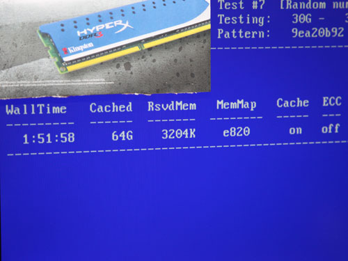 A screenshot of the live demo displaying the amount of memory installed in the system.