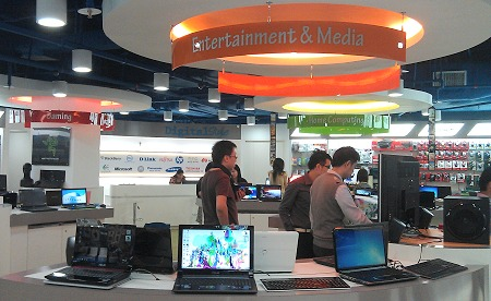 More 'island' themes seen here - Gaming, Entertainment & Media and Home  Computing. Note that notebooks - common to all of these product groups - are shown as-is with their battery packs attached. This gives users what to expect exactly in terms of weight, unlike many other stores that remove the battery packs and set inaccurate expectations.