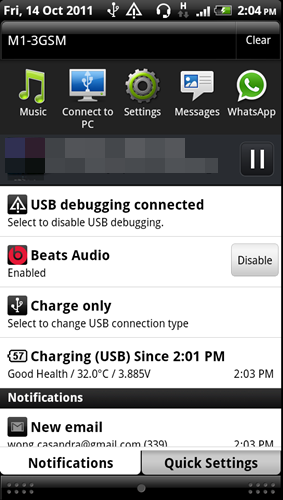 You can either select to enable or disable the Beats Audio profile from the Sound enhancer tab once you get a song running. The Beats Audio profile can be used with any other regular headphones as well.