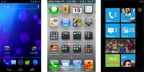Not too sure of the key features found within the three new mobile OSes? Here's a table that lists out the key similarities and differences between Android 4.0, iOS 5 and Windows Phone 7.5.