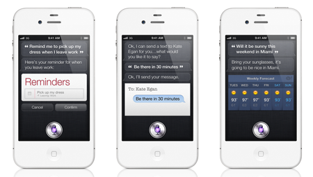 Meet Siri, the new voice assistant feature that'll be exclusively available on the iPhone 4S.