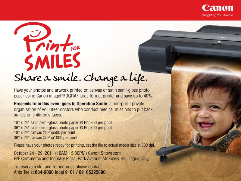 Canon's Print For Smiles